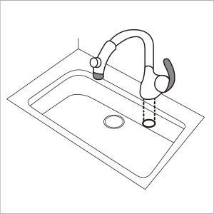 キッチン水栓ワンホールタイプ