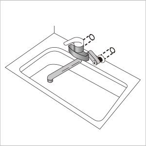 キッチン水栓ツーホールタイプ