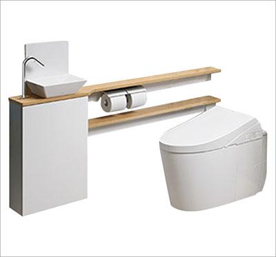 タンクレストイレ+専用キャビネット手洗